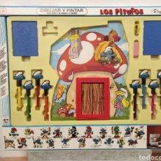 Giochi antichi: JUEGO DE DIBUJAR Y PINTAR LOS PITUFOS. Lote 260755550