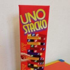 Giochi antichi: UNO STACKO (SIMILAR A JENGA) 51 BLOQUES.MATTEL 1994. NUEVO EN CAJA.. Lote 261293805
