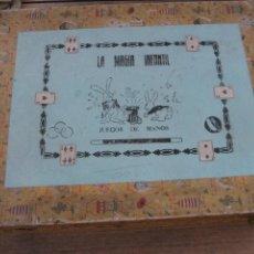 Juegos antiguos: PRECIOSA Y ÚNICA CAJA LA MAGIA INFANTIL . JUEGOS DE MANOS . ALMACENES JORBA INCOMPLETA BARAJA JUEGO. Lote 262344890