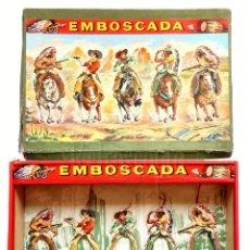 Juegos antiguos: JUEGO DE TIRO EMBOSCADA DE XAFMAS. REF. 650 INDIOS Y VAQUEROS AÑOS 50 - 60. Lote 276524688