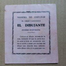 Giochi antichi: EL DIBUJANTE - DIBUJOS PLANCHABLES - MICKEY MOUSE - CUADERNILLO DE PINTURA AÑOS 30. Lote 277574203