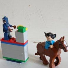 Juegos antiguos: FIGURAS SIMIL DE LEGO / EN PVC. Lote 285559918