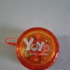 Juegos antiguos: YOYO SÚPER POWER, CON LUZ AL HACERLO GIRAR. Lote 290103893