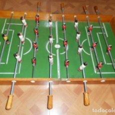 Juegos antiguos: FUTBOLIN PLEGABLE TIPO MALETIN / NECESITA RESTAURACIÓN. Lote 295852893