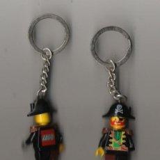 Juegos construcción - Lego: BONITA PAREJA DE MUÑECOS LEGO EN MINIATURA Y LLAVEROS EL MUÑECO TIENE 5 CM. LOS DE LA FOTO. Lote 16374598