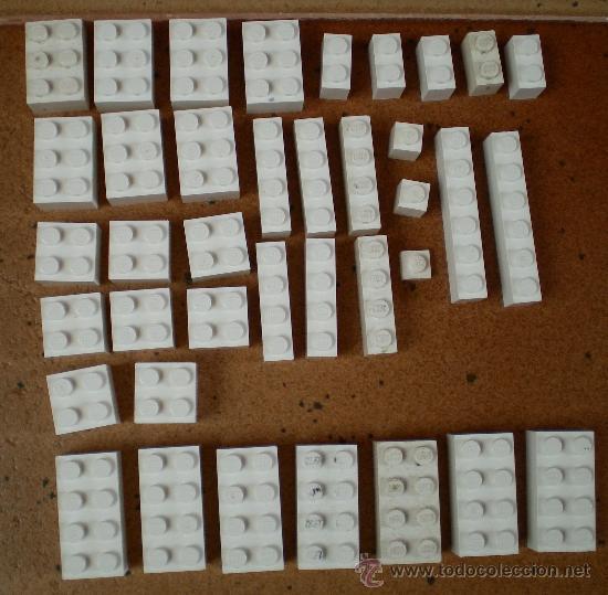 LOTE PIEZAS LEGO BLANCAS (Juguetes - Construcción - Lego)