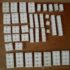 Juegos construcción - Lego: LOTE PIEZAS LEGO BLANCAS. Lote 161010186