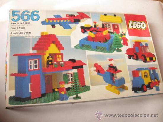 Caja de construcciones lego 566 de los a os 80 comprar - Construcciones de lego para ninos ...