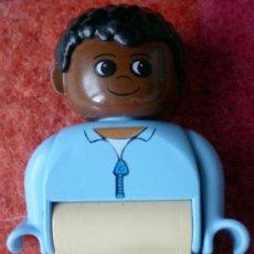 Juegos construcción - Lego: FIGURA LEGO DUPLO, CHICO NEGRO. Lote 158952960
