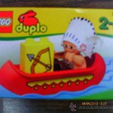 Jeux construction - Lego: LEGO DUPLO INDIO EN CANOA REF.2431.AÑO 1998.NUEVO EN CAJA SELLADA.. Lote 206860538