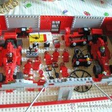 Juegos construcción - Lego: LEGO 2007 RF 8144 PITLANE GARAJE FERRARI F1 KIMI RAIKKONEN FELIPE MASSA, CARRO ASISTENCIA + MECANICO. Lote 180168583
