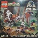 Juegos construcción - Lego: LEGO STAR WARS, SPEEDER BIKES, REF.7128, 1999, CAJA ABIERTA, COMPLETO. Lote 41134955