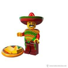 Juegos construcción - Lego: LEGO MINIFIGURAS / MINIFIGURES SERIES 12 MOVIE PELICULA - TACO TUESDAY GUY - MEXICANO. Lote 41767621