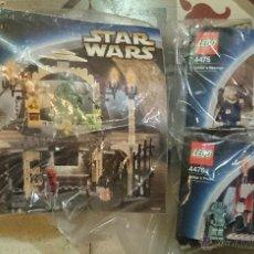 Juegos construcción - Lego: LEGO STAR WARS JABBA PALACE REF.4480, REF.4476 JABBA'S PRICE, REF.4475 JABBA'S MESSAGE 2003. Lote 73733953