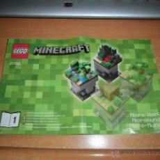 Juegos construcción - Lego: LEGO MINECRAFT LIBRETO DE INSTRUCCIONES . Lote 44688001