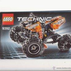 Juegos construcción - Lego: MANUAL DE INSTRUCCIONES LEGO TECHNIC. Lote 45323876