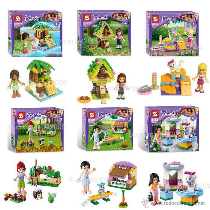 Lote de 6 playsets infantil para lego friends f comprar for Coleccion friends