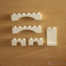 Juegos construcción - Lego: CINCO PIEZAS BLANCAS DE LEGO. Lote 48872069