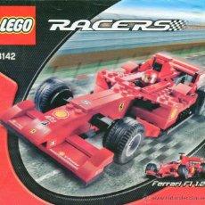 Juegos construcción - Lego: LEGO RACERS 8142 FERRARI 248 F1 LICENCIA OFICIAL FERRARI CON LIBRO DE MONTAJE ESCALA 1:24 DESCRI. Lote 50222068
