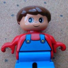 Juegos construcción - Lego: LEGO DUPLO FIGURA NIÑO PANTALÓN AZUL. Lote 148612465
