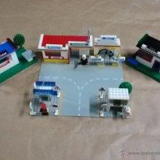 Juegos construcción - Lego: COLECCIÓN LEGO: GARAGE, GASOLINERA, TIENDA, POLICÍA. Lote 53081683