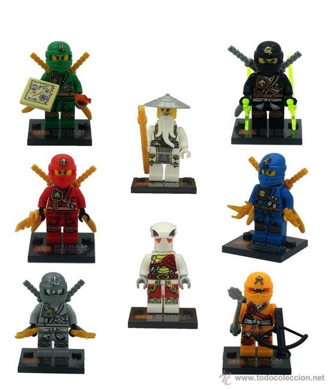 Lote De 8 Figuras Compatibles Con Lego De Ninja Sold Through