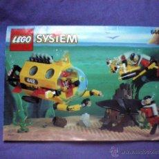 Juegos construcción - Lego: INSTRUCCIONES DE MONTAJE LEGO 6442 SYSTEM BASE SUBMARINA STING RAY EXPLORER. Lote 84744340
