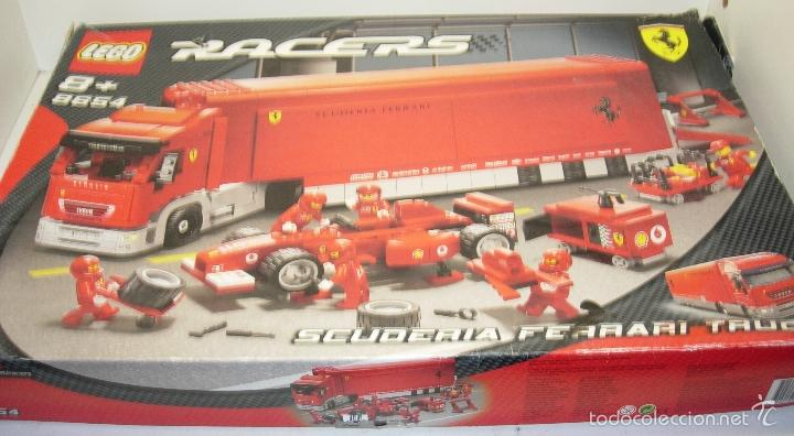 LEGO RACERS SCUDERIA FERRARI TRUCK CAMION ESCUDERIA FERRARI REF. 8654 (Juguetes - Construcción - Lego)