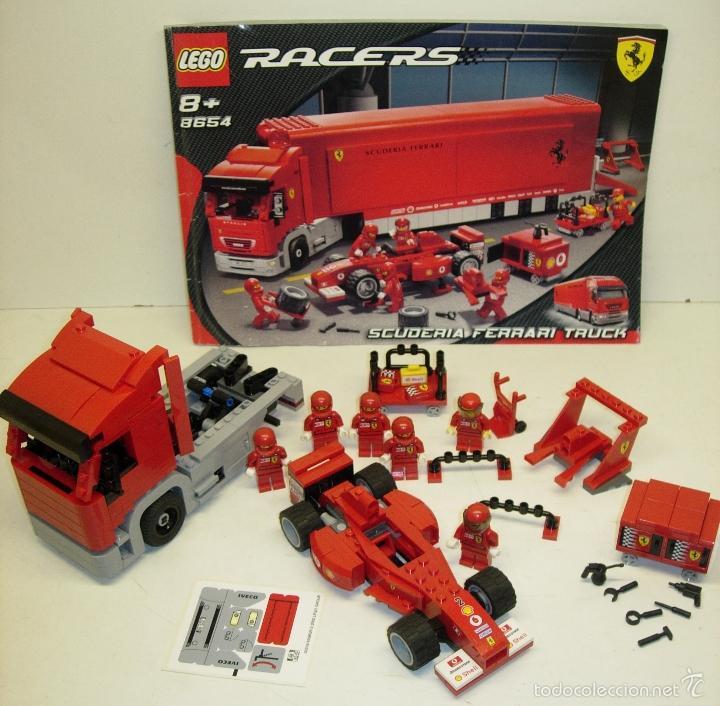Juegos construcción - Lego: LEGO RACERS SCUDERIA FERRARI TRUCK CAMION ESCUDERIA FERRARI ref. 8654 - Foto 4 - 55114383
