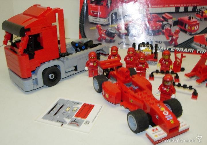 Juegos construcción - Lego: LEGO RACERS SCUDERIA FERRARI TRUCK CAMION ESCUDERIA FERRARI ref. 8654 - Foto 5 - 55114383