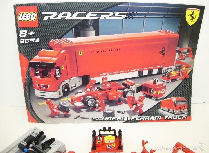 Juegos construcción - Lego: LEGO RACERS SCUDERIA FERRARI TRUCK CAMION ESCUDERIA FERRARI ref. 8654 - Foto 7 - 55114383