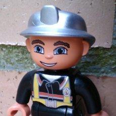 Juegos construcción - Lego: FIGURA LEGO DUPLO BOMBERO, FIREMAN . Lote 56328051