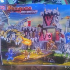 Juegos construcción - Lego: LOTAZO DE MEGA BLOKS DRAGONS METAL AGES 9508 CON LIBRO DE INSTRUCCIONES.. Lote 57285994