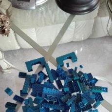 Juegos construcción - Lego: LEGO PIEZAS AZULES 250 GRAMOS. Lote 59531511