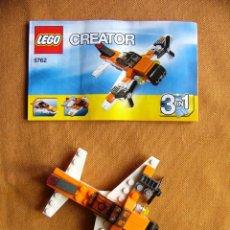 Juegos construcción - Lego: JUGUETE LEGO CREATOR REF. 5762 3 IN 1 AVION CON MANUAL. Lote 64899647