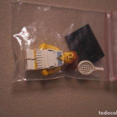 Juegos construcción - Lego: MINIFIGURE DE TENISTA FEMENINA DE LA SERIE 3 DE LEGO MINIFIGURES.. Lote 67286837