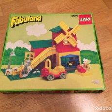 Juegos construcción - Lego: LEGO \ MOLINO DE HARINA Y TIENDA (MILL & SHOP) - FABULAND 3679 - DESCATALOGADO \ COMPLETO \ 1986. Lote 68117653