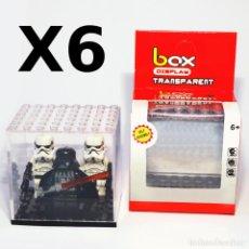 Juegos construcción - Lego: PACK 6 EXPOSITORES PARA TUS MINIFIGURAS LEGO FAVORITAS, NUEVO Y EN CAJA ORIGINAL.. Lote 83920508