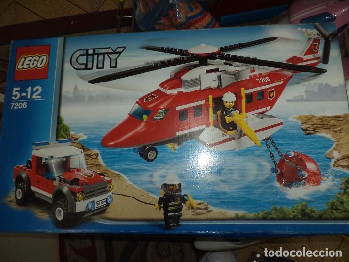 LEGO CITY REF.7206.HELICÓPTERO DE RESCATE Y LAND ROVER. (Juguetes - Construcción - Lego)
