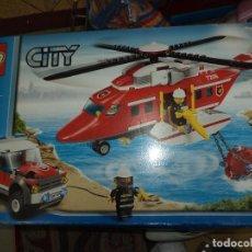Juegos construcción - Lego: LEGO CITY REF.7206.HELICÓPTERO DE RESCATE Y LAND ROVER.. Lote 69705437