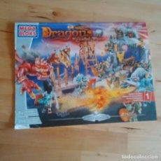 Juegos construcción - Lego: MEGA BLOKS 9891 - COMPLETO! 215 PIEZAS - DRAGONS KRYSTAL WARS - VORGAN STRONGHOLD. Lote 71008225
