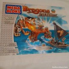 Juegos construcción - Lego: MEGA BLOKS 9652 - DRAGONS - IRON RAIDERS - RAIDERS SEA ASSAULT. Lote 71022897