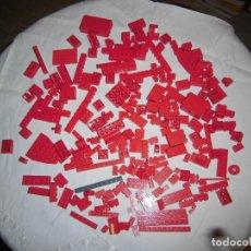 Juegos construcción - Lego: LOTE LEGO PIEZAS COLOR ROJO.UNAS 250 PIEZAS. Lote 71621911