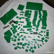 Juegos construcción - Lego: LOTE LEGO PIEZAS COLOR VERDE.UNAS 130 PIEZAS. Lote 71622127