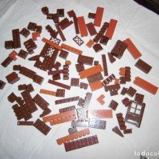 Juegos construcción - Lego: LOTE LEGO PIEZAS COLOR MARRON.UNAS 110 PIEZAS. Lote 71622199