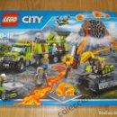 Juegos construcción - Lego: ENORME! LEGO CITY VOLCAN: BASE DE EXPLORACION REF. 60124 NUEVO EN CAJA Y PRECINTADO. Lote 74438995