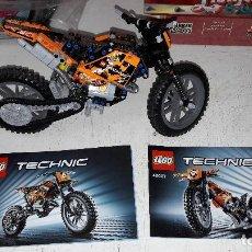 Juegos construcción - Lego: LEGO TECHNIC 42007 MOTO DE CROSS CON INSTRUCCIONES DIFICIL. Lote 75129763