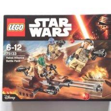 Juegos construcción - Lego: LEGO STAR WARS REBEL ALLIANCE BATTLE PACK 75133 NUEVO. Lote 75303599