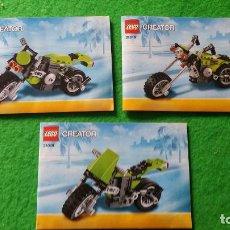 Juegos construcción - Lego: 3 MANUALES DE INSTRUCCIONES DE LEGO 31081 CREATOR. Lote 76173767