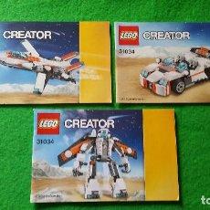 Juegos construcción - Lego: 3 MANUALES DE INSTRUCCIONES DE LEGO 31034 CREATOR. Lote 76174767